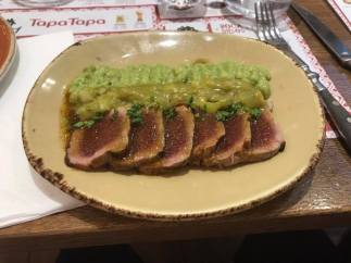 Tataki tuna: a hybrid of Spanish and Japanese cuisine