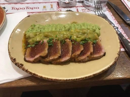 Tataki tuna: a hybrid of Spanish and Japanese cuisine