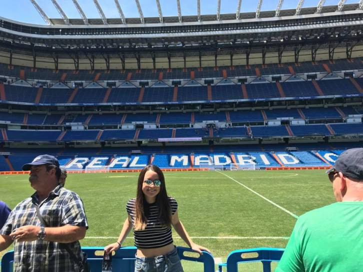 Me on the stadium tour